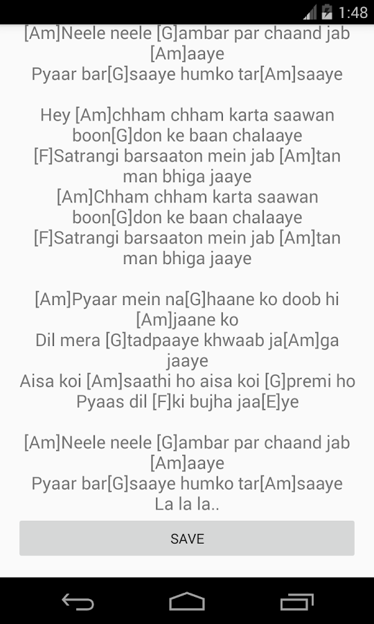 Hindi Songs Chords 20 Apk Download Android Education Apps