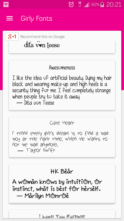 Girly Fonts for FlipFont - works on Samsung Galaxy 1 1 3 APK