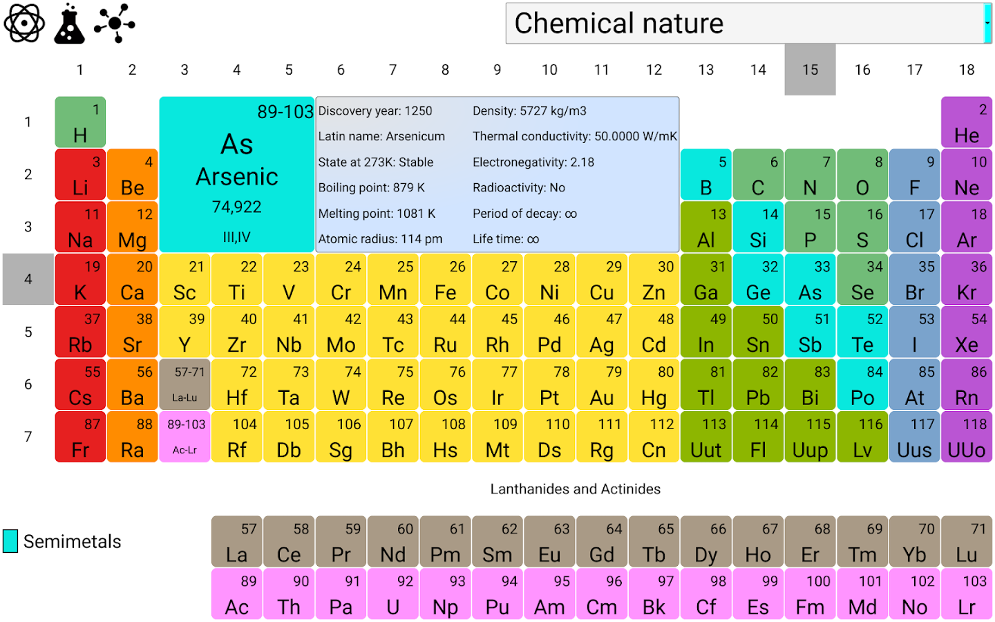 Periodic table of elements 30 apk download android education apps periodic table of elements 30 screenshot 5 urtaz Images