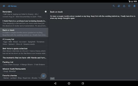 Simplenote 2.15 screenshot 10