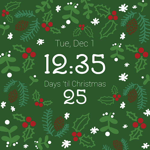 christmas countdown watch face 2 0 apk
