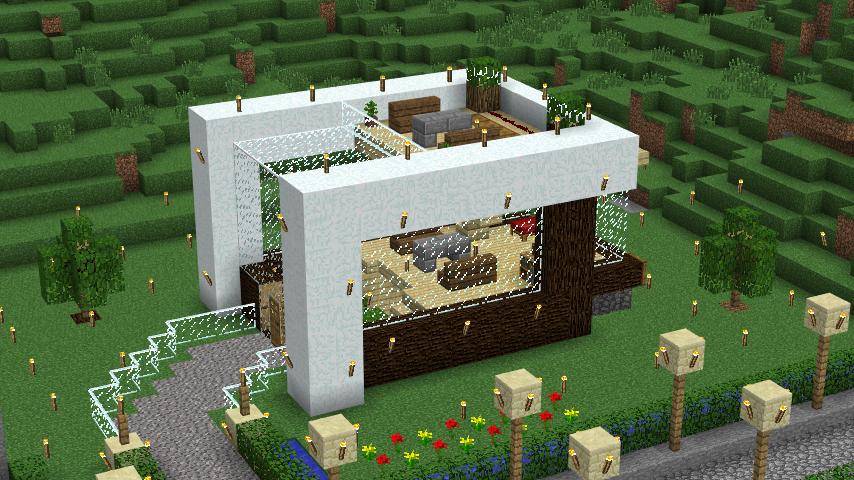 Gambar Desain Rumah Minecraft