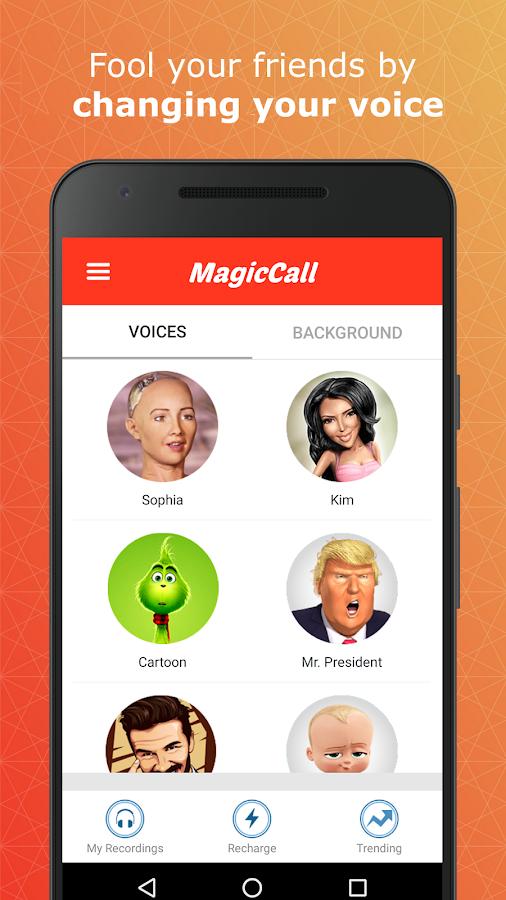 call voice changer app apk