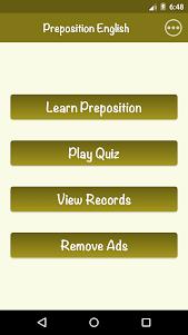 English Preposition 1.0 screenshot 1