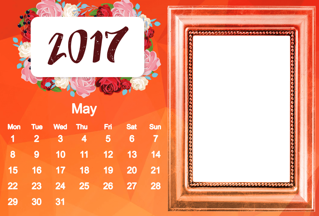 photo frame calendar 2017