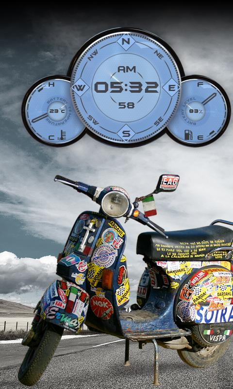 Vespa Compas Clock Battery Lwp 1 5 Apk Download Android