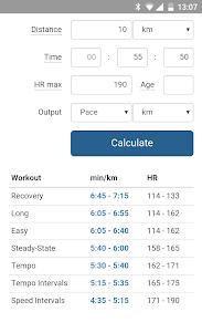 Pace Calculator for Runners 1.0.8 screenshot 1