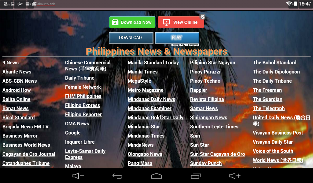 Philippines News & Newspapers 1 1 APK Download - Android News