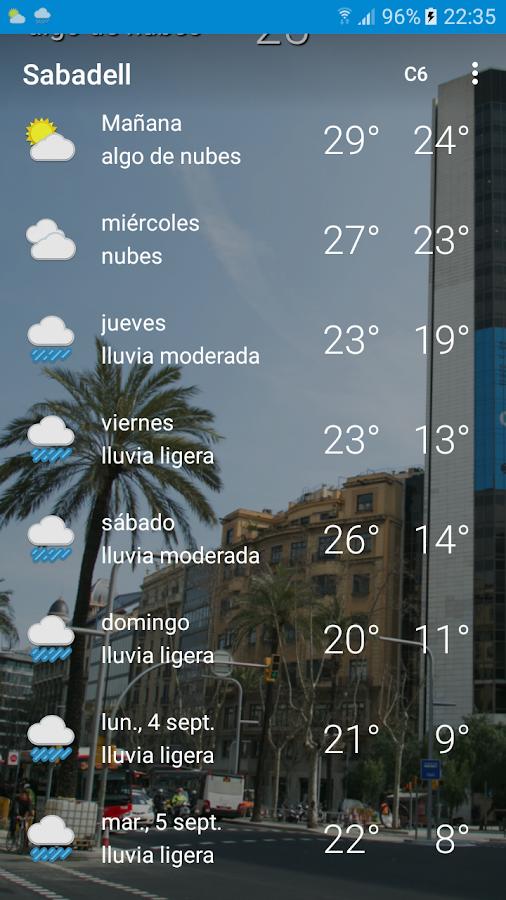 El Tiempo En Sabadell 10 Apk Download Android Weather Apps