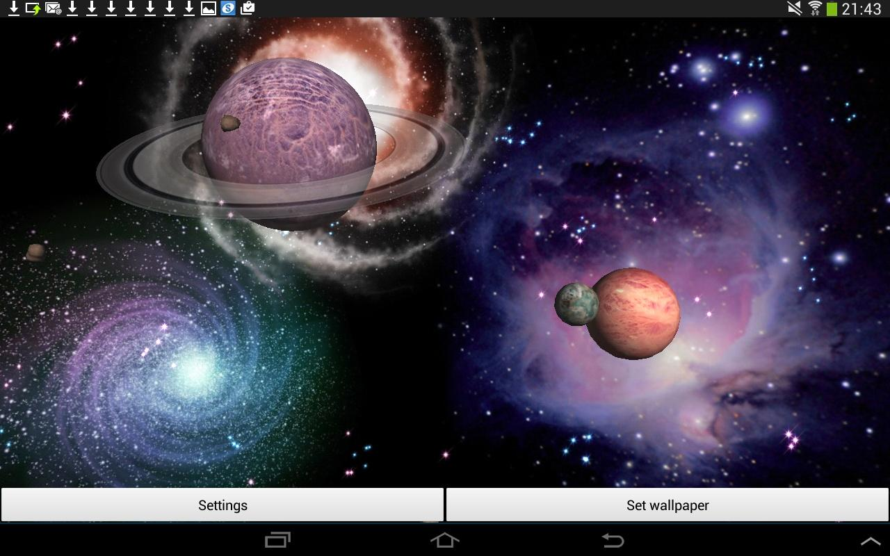3d space live wallpaper apk download android for Space in 3d