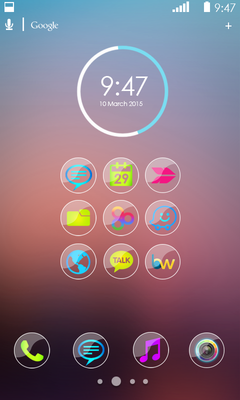golden glass icon pack apk
