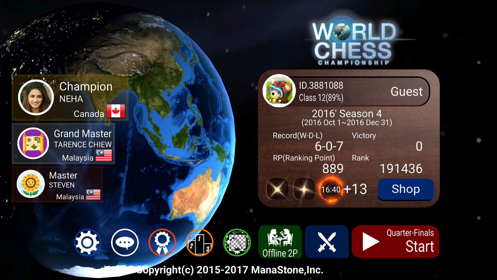 World Chess Championship 2 08 12 APK Download - Android Board Games