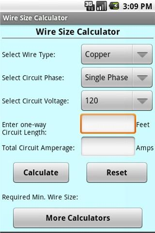 Wire size calculator apk download android tools apps wire size calculator screenshot greentooth Image collections