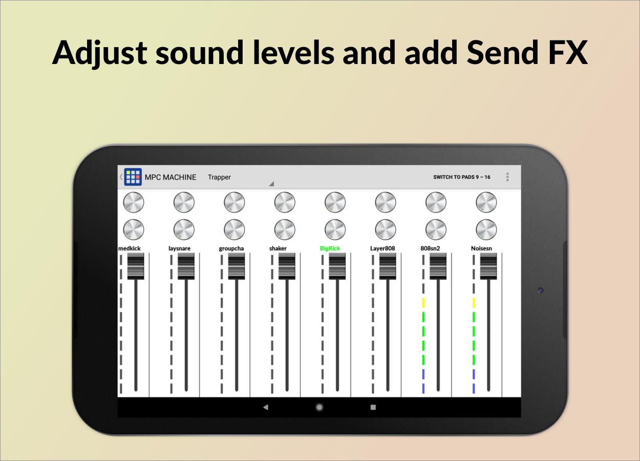 mpc machine sampling drum machine beat maker apk download android music audio apps. Black Bedroom Furniture Sets. Home Design Ideas
