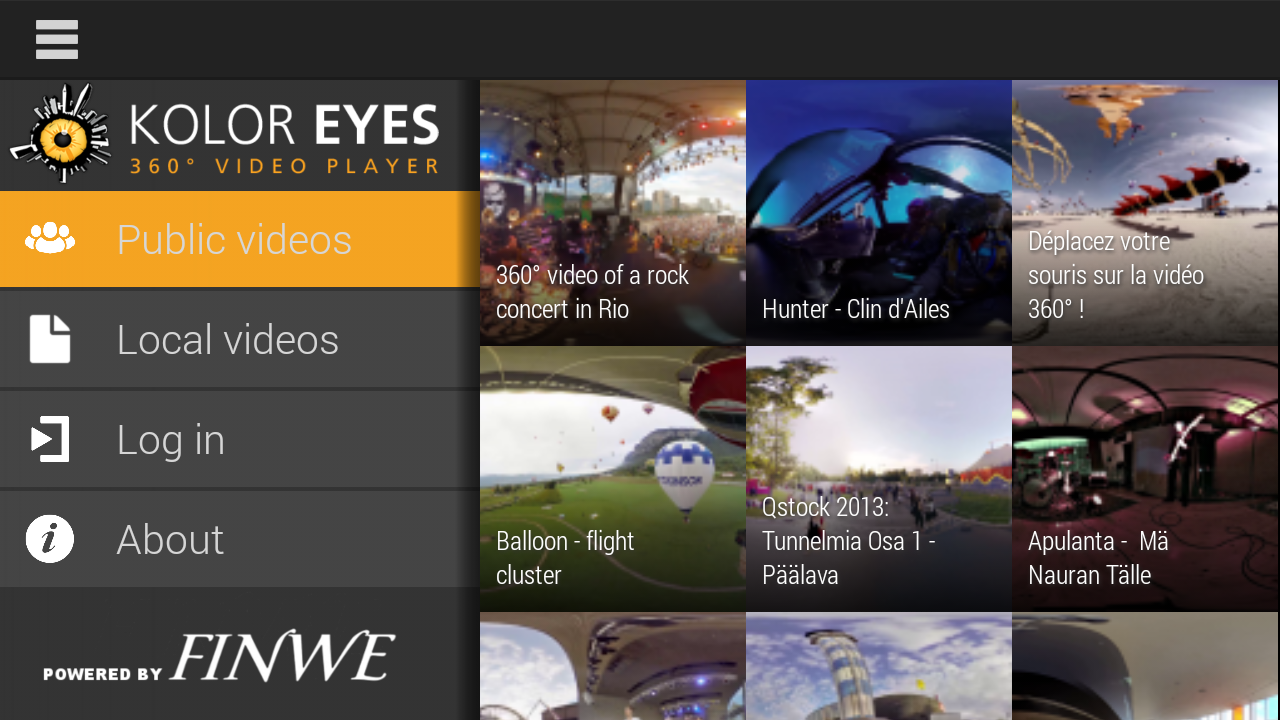 Kolor Eyes 360° video player 2 0 10 APK Download - Android