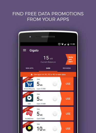 Gigato: Free Data Recharge 3 14 APK Download - Android