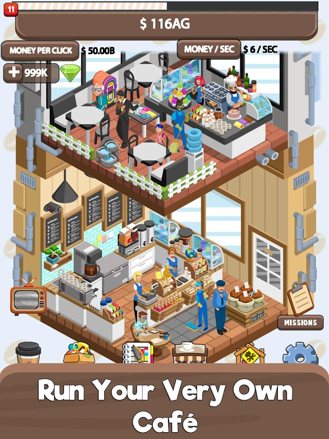 Idle Cafe Tycoon - My Own Clicker Tap Coffee Shop 1 11 4 APK