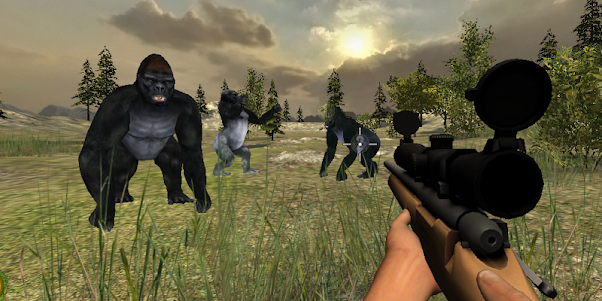 Gorilla Hunter Simulator 2015 1.9 screenshot 1