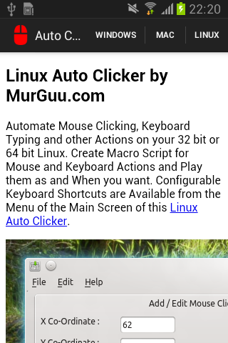 auto click download android