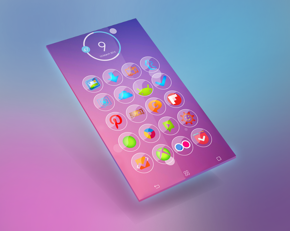 smoke & glass icon pack apk