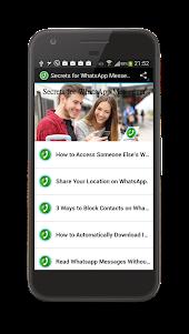 Secrets for WhatsApp Messenger 1.0 screenshot 1