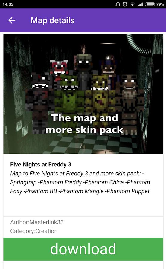 Maps FNAF for Minecraft PE 2 0 APK Download - Android