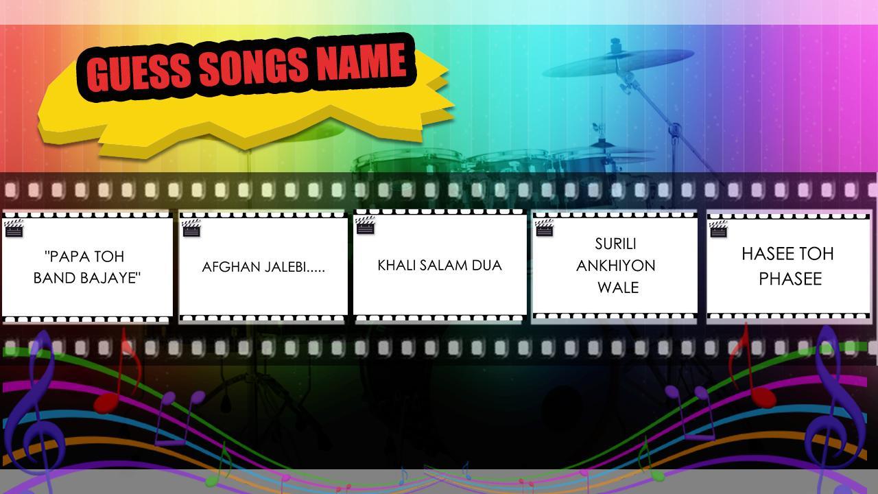 Guess Hindi Bollywood Song 1 2 APK Download - Android Trivia