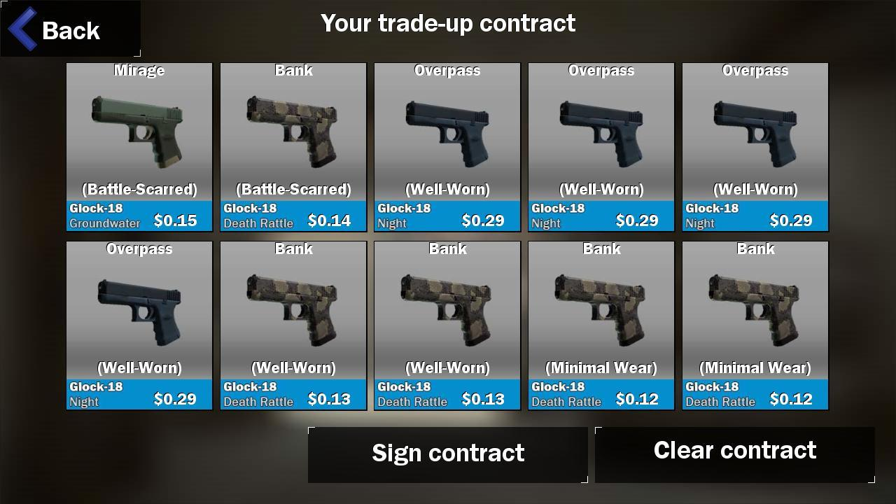 Contract Trade up for CS:GO 1 0 2 APK Download - Android