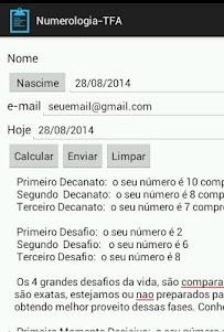 Numerologia-TFA 1.0 screenshot 4