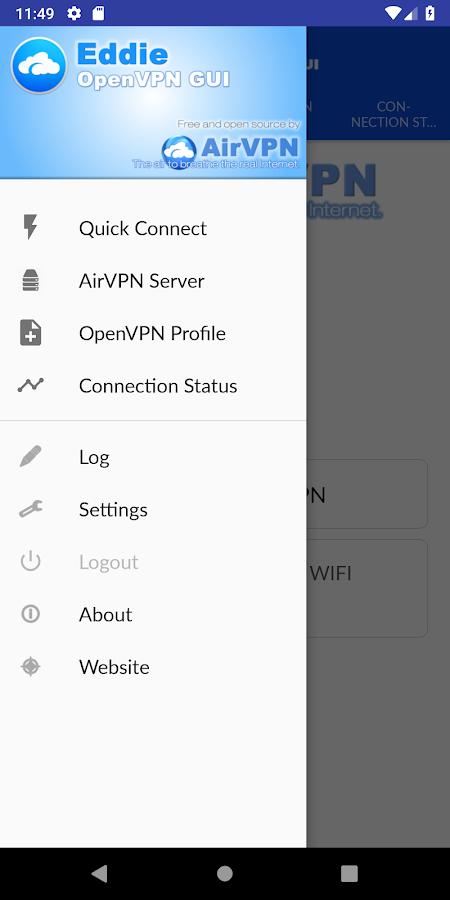 Eddie - AirVPN official OpenVPN GUI 2 0 1 APK Download