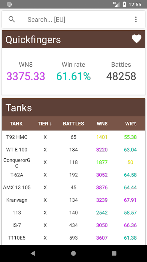 Simple WN8 (Stats for WoT) 1 1 1 APK Download - Android