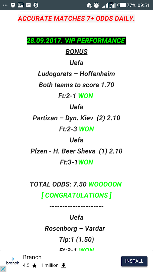 Sure 5 Odds Daily