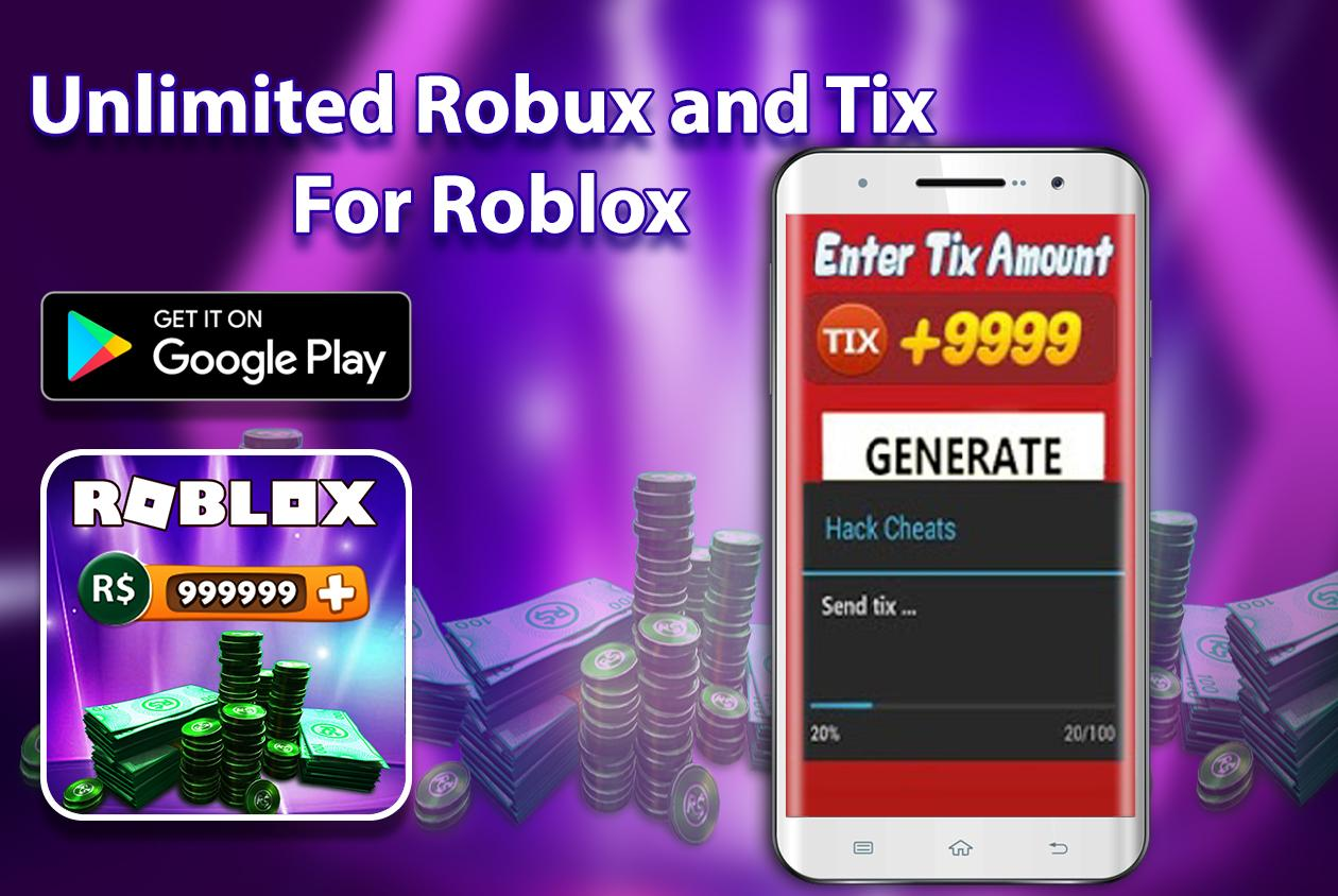 Unlimited Of Robux And Tix For Roblox Prank 10 Apk Download - robux planet earn r