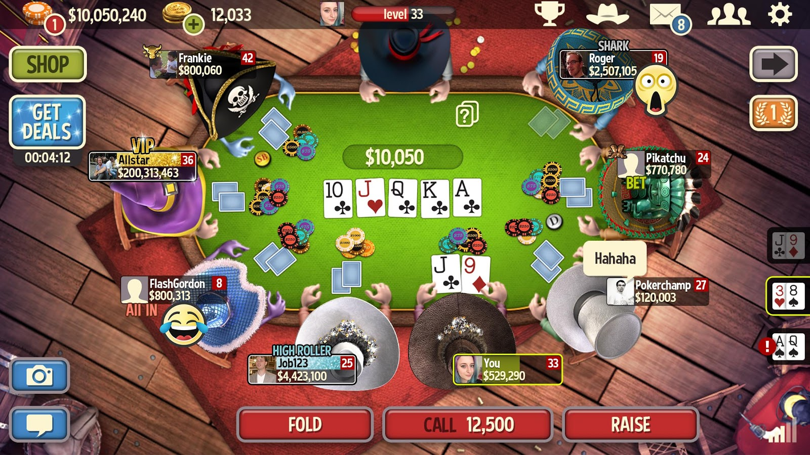 4 card poker online game
