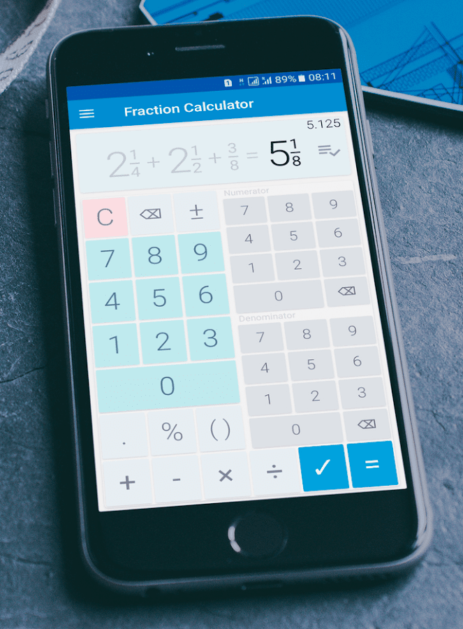 Fraction calculator: easy solve fractions problems 1.28 APK Download ...